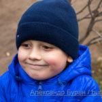 Шесть-летний мальчик - портрет в осеннем парке