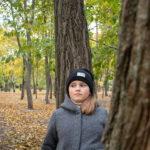 Девушка neartree подростка в парке осенью - Украина, Одесса, 17,10,2019