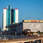 Морского вокзала в Одессе и вход в него - Украина, Одесса, 09,11,2019