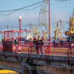 Мост, ведущий в город-порт на причал кораблей - Украина, Одесса, 17,10,2019-154
