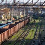 Вагоны и рельсы в порту - Украина, Одесса, 17,10,2019